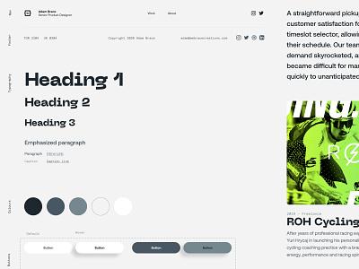 Pandemic Portfolio typography colour component library design system ui portfolio