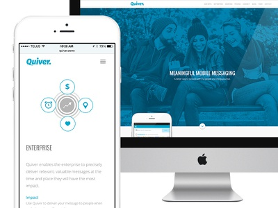 Quiver Landing Page quiver responsive design development landing page website ui web design