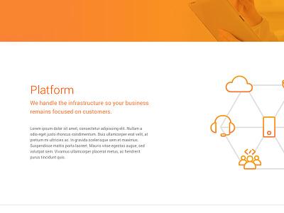 Orange Layout responsive design site design icons web design website typography design