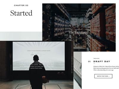 The Vanguard development web design typography design basketball