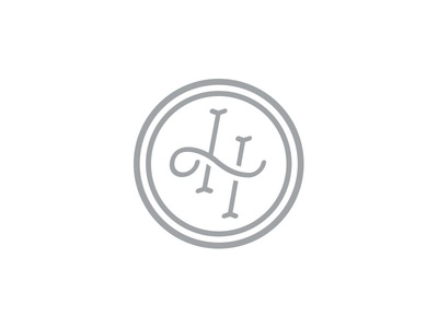 LH Monogram logotype typography brand initials monogram logo
