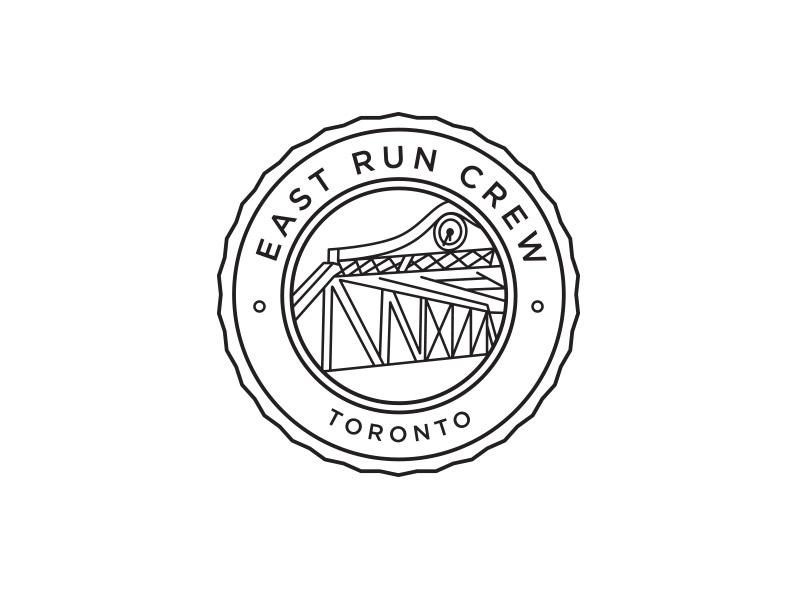 East Run Crew design toronto sports run crew running nike line art illustration branding logo