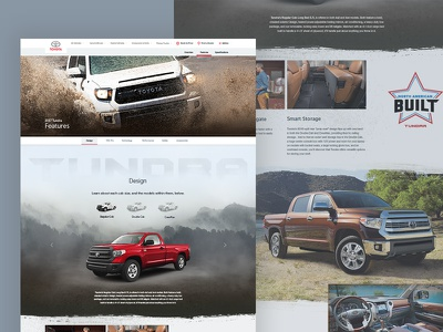 Tundra Catalogue Page automotive textures web design uiux design toyota tundra