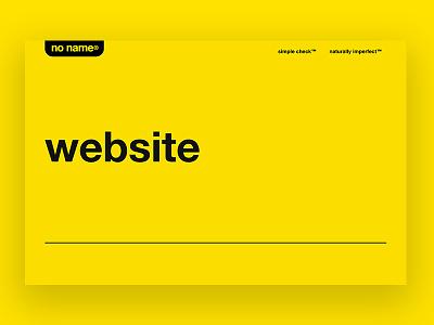 noname.ca uiux canada canadian brand helvetica web design minimal noname