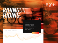 ROH Cycling particles gradient cycling logo web design typography branding design ux ui