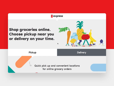 PC Express Brand Launch pc express grocery design ux ui uiux typography web design