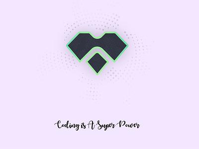 Coding is a SuperPower - Branding visual design branding