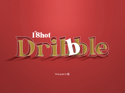 1st Design Uploaded to Dribble! logo graphic design