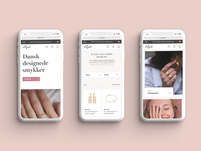 A-Hjort Jewellery ecommerce mobile ecommerce design ecommerce design website webdesign ux uidesign ui