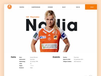 Website for Odense Håndbold