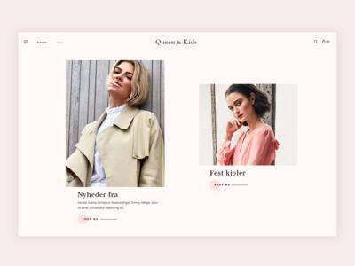 Queen & Kids website design
