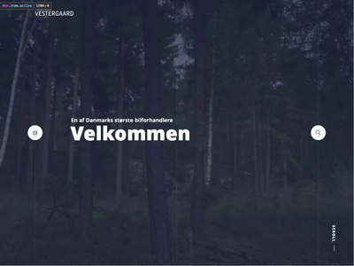 Autohuset Vestergaard Menu Animation