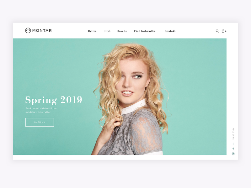 Montar Hero ecommerce shop montar webshop ecommerce design ecommerce minimal design web website webdesign ux uidesign ui