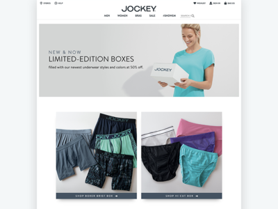 Jockey Box Marketing Site website marketing ecommerce retail jockey underwear