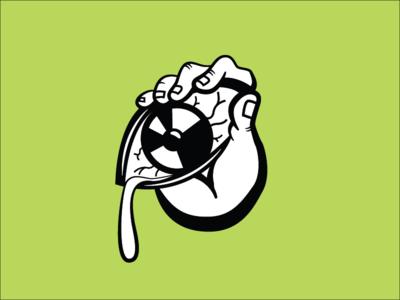 Eye On You music band creepy sticker illustrator hand eye illustration