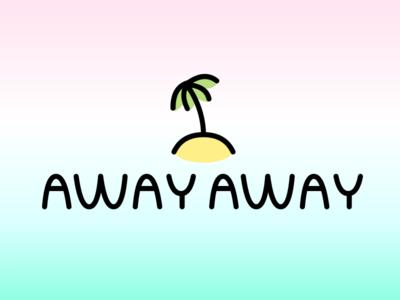 Away Away branding illustration tree island away away app