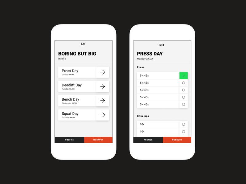 531 App workout tracker product design workout app figma app workout