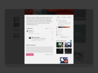 Dribbble Concept - Upvoting and Threads