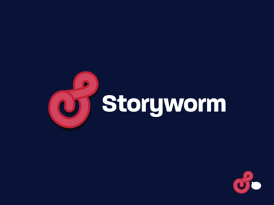 Storyworm startup branding illustration
