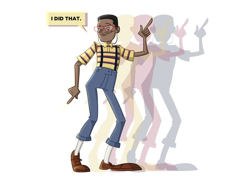 I did that character design illustration did i do that urkel family matters