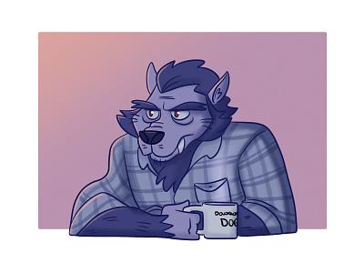 Morning Wolf halloween spooky wolf werewolf