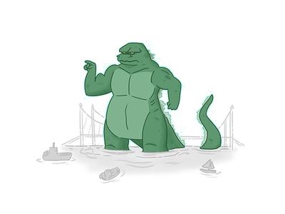 Godzilla muscles creature movies monster godzilla
