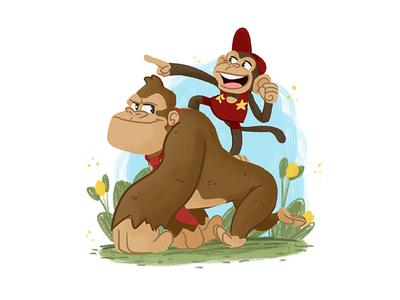 A couple of Kongs apes monkey