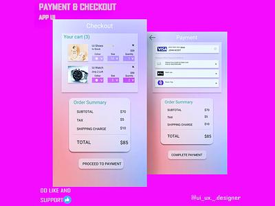 Payment and checkout UI checkoutui dailyui003 ui uiuxdesign uidesign graphic design design dailyui