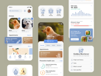 Pet health care app charts mobile ui pet care app health dog pet