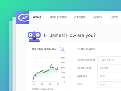 App Assistant charts flat dashboard trading finace infographic ui ux web