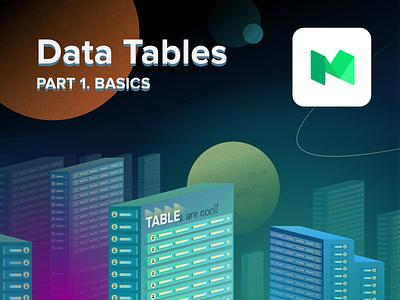 Data Tables Design  guide illustration grid data table article medium ux design
