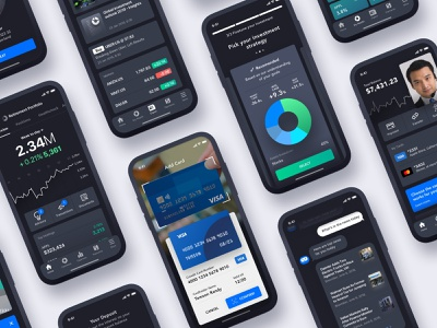 10 tips for better Financial UX Design finance app charts dark ui clean ui banking finance mobile design ux