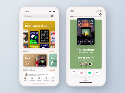 How to redesign, step-by-step guide. goodreads ecommerce app mobile simple redesign article reading books process design ux