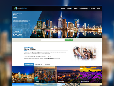 Punim Jedrima - Travel Agency jquery css html development custom design taxonomies custom post types advanced custom fields acf wordpress website travel agency