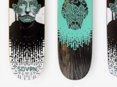 Design | SOVRN Skateboard Decks texas austin california los angeles creative company skateboard graphic design skate