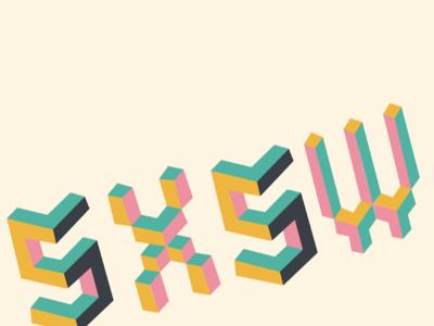 SXSW lego/blocks look