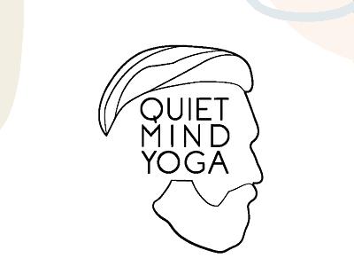 Quiet Mind Yoga Logo fitness logo fitness branding agency identity branding illustration austin yoga studio yoga logo creative company logo design logo branding graphic design