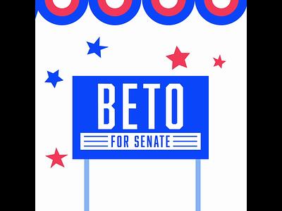 Beto For Senate illustration graphic logo texas austin creative company graphic design