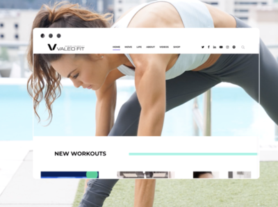Valeo Fit // Website