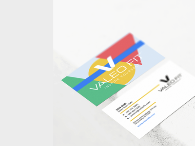 Valeo Fit // Business Cards graphic vector animation design branding austin creative company graphic design business card design fit fitness brand fitness