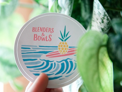 Blenders & Bowls // Sticker Design logo design logo illustration creative company design austin strategy consulting brand design branding agency healthy food and drink smoothies acai graphic design