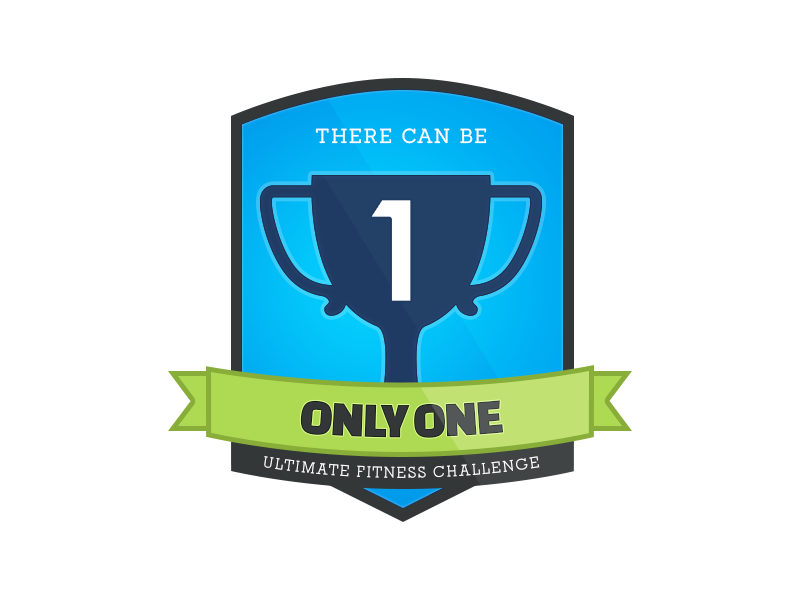 Fitness Challenge Badge ribbon graphic gym challenge fitness badge design
