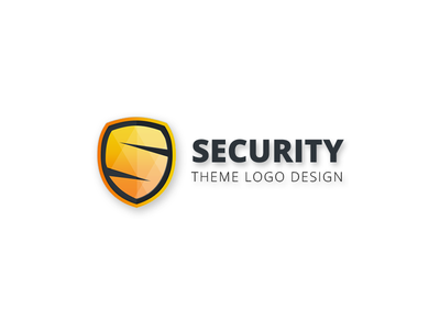 Security Theme Logo Design shield gradients safety logo design logo security badge