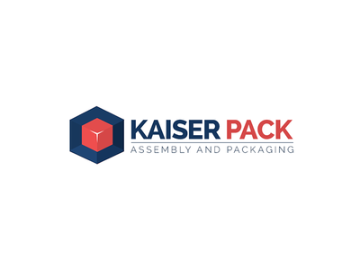 Kaiser Pack - Assembly And Packaging packaging assembly blue red cube box logodesign logo