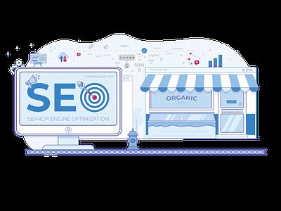 Seo - Search Engine Optimization - Illustration seo company seo agency creative brackets creativebrackets creative illustration seo