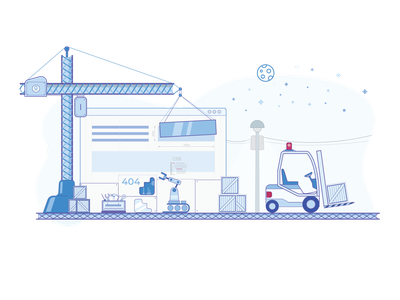 Support - Creative Brackets digital agency agency construction website support illustration