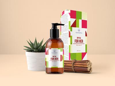 Dry Oil packaging design cosmetic packaging brand package collection branding dry oil cosmetics packaging design