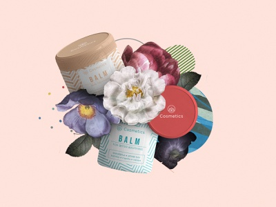 Balm packaging design pattern creative package collection branding cosmetics package design