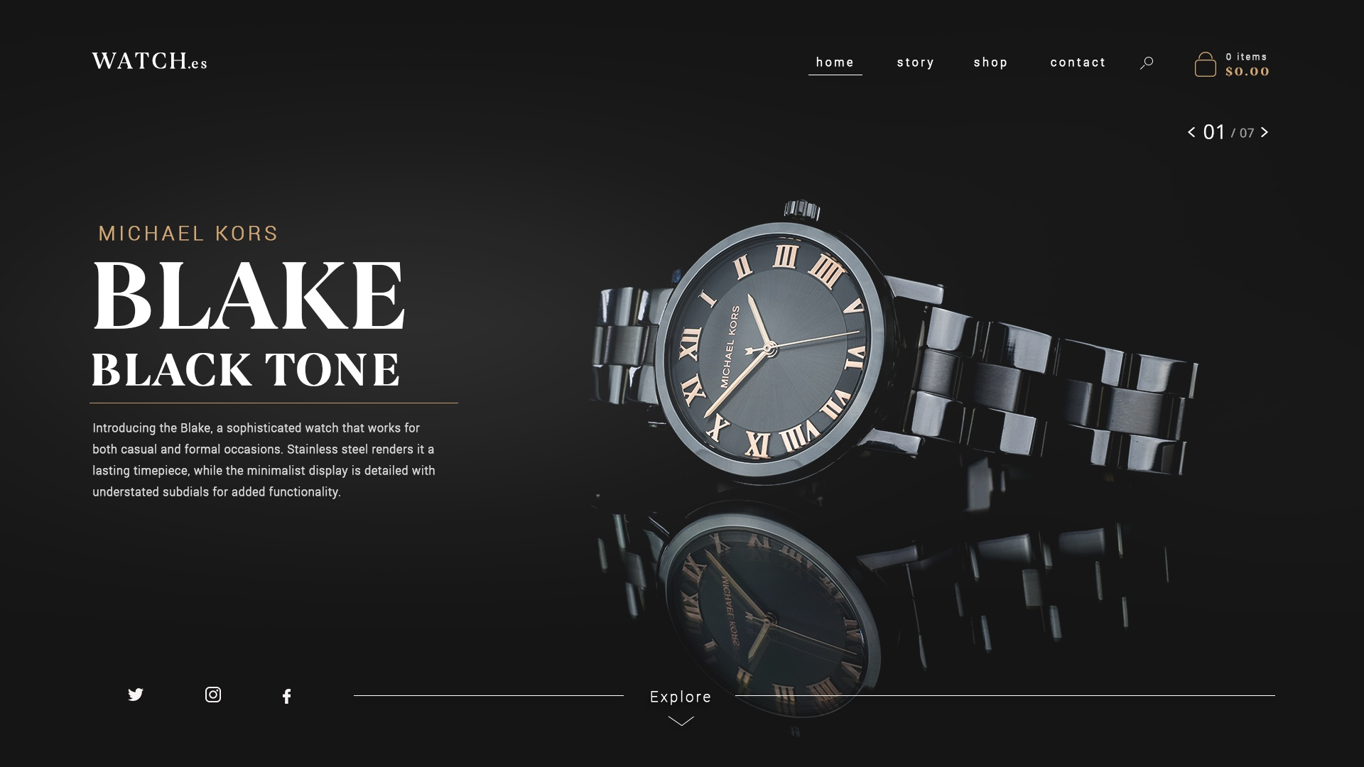 Watch website concept 3