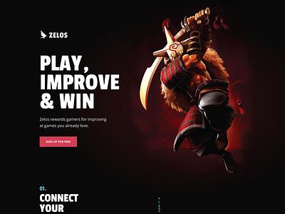 Gaming website clean minimal web design website marketing dark dark website gaming gaming website juggernaut dota 2